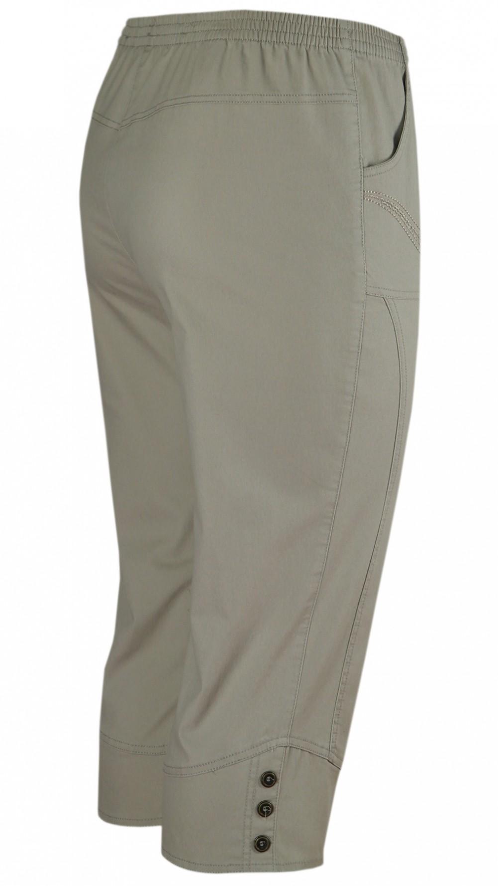 Damen Capri Stretch-Jeans Caprihose Schlupfhose - Beige