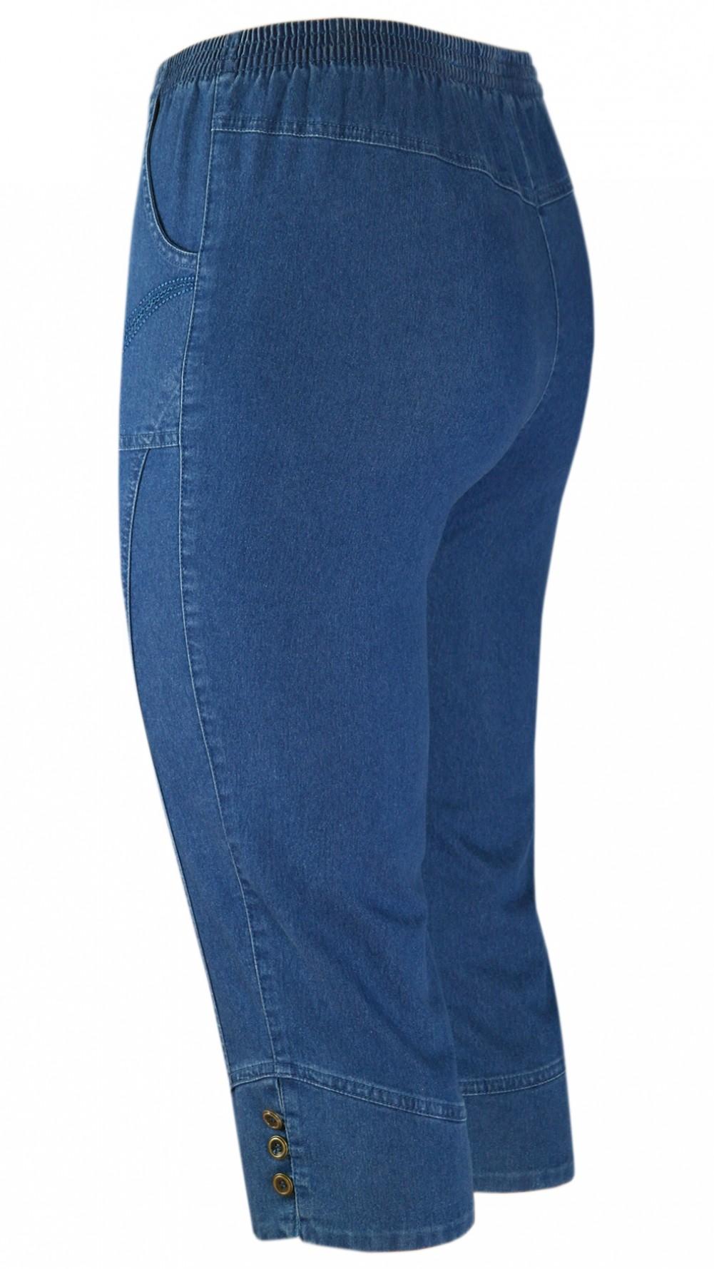 Damen Capri Stretch-Jeans Caprihose Schlupfhose - Blue