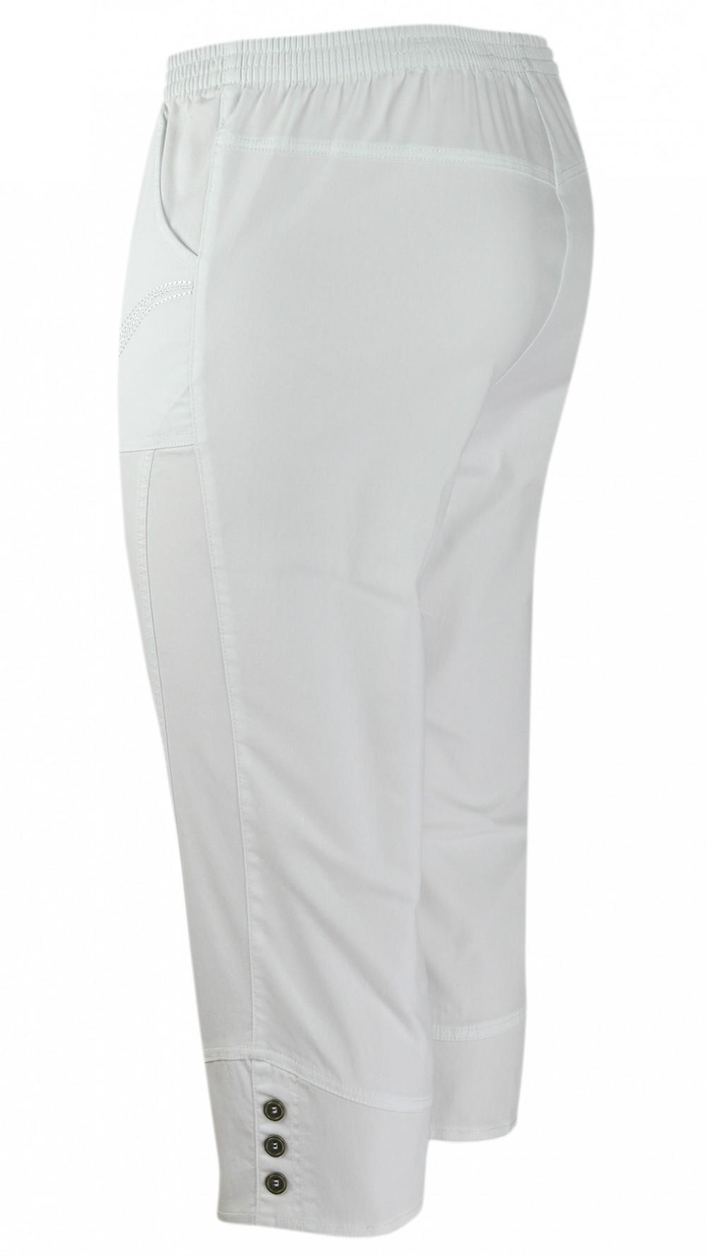 Damen Capri Stretch-Jeans Caprihose Schlupfhose - Weiss