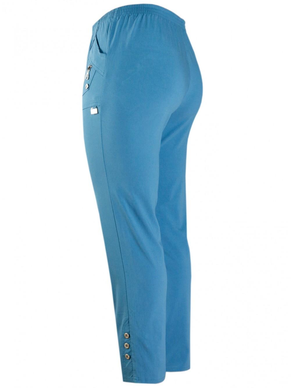 Damen Stretch Schlupfhose Sommer Kollektion - Ligth Blue/seitenansicht