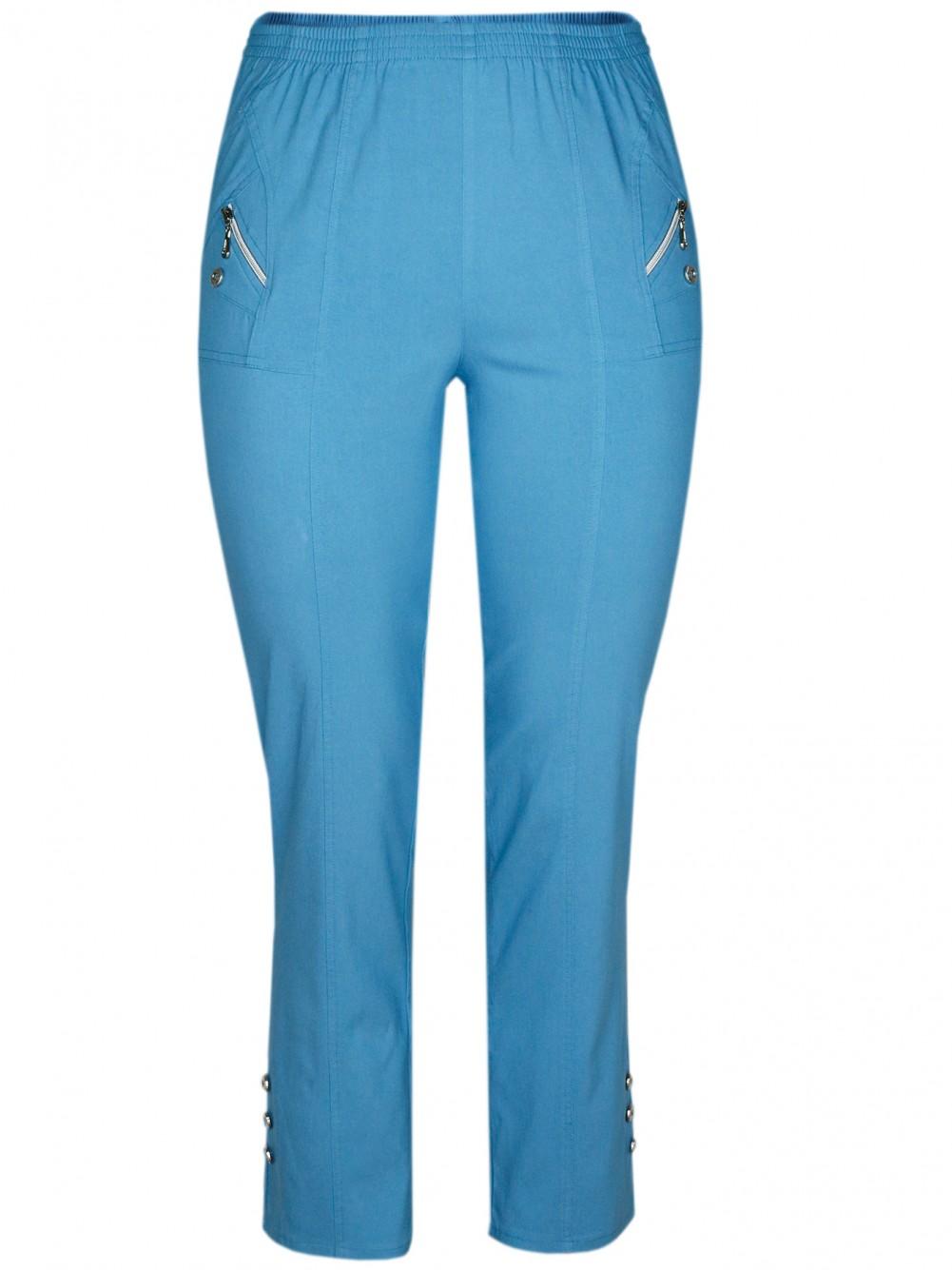Damen Stretch Schlupfhose Sommer Kollektion - Ligth Blue