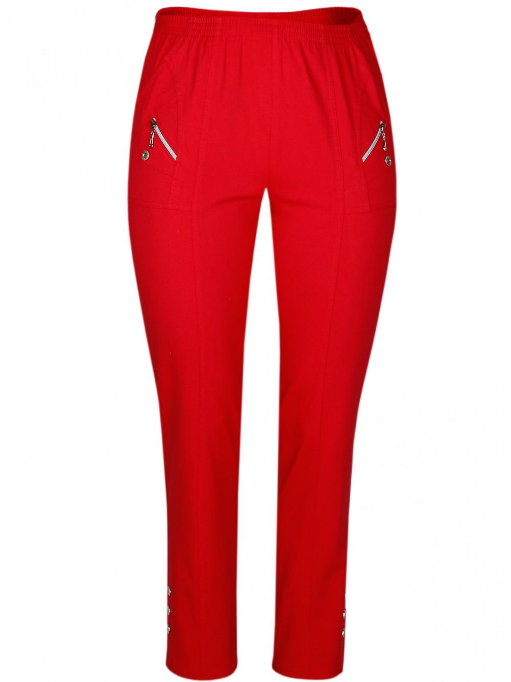 Damen Stretch Schlupfhose Sommer Kollektion - Rot