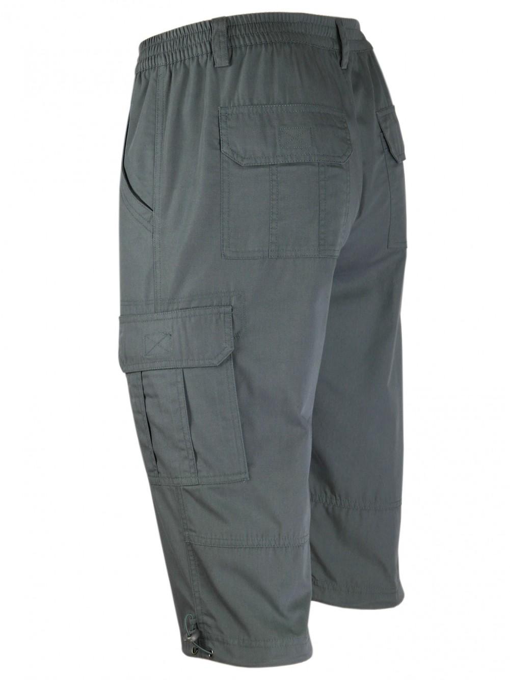 Cargo-Bermudas, Cargo Shorts, kurze Hose für Herren - Anthrazit/Seitenansicht