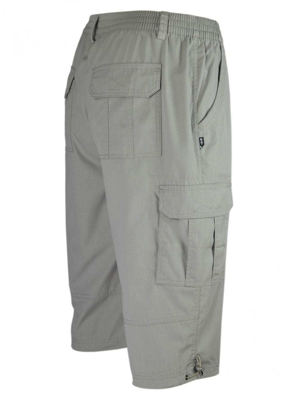 Cargo-Bermudas, Cargo Shorts, kurze Hose für Herren - Beige/Seitenansicht