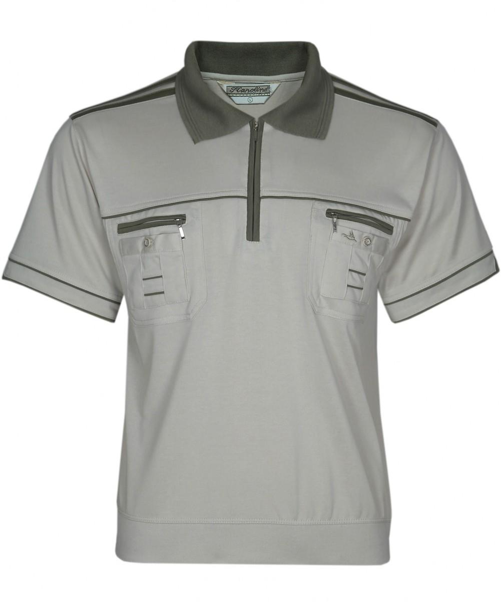 Blousonshirts Poloshirts mit kurzen Ärmeln - Biege