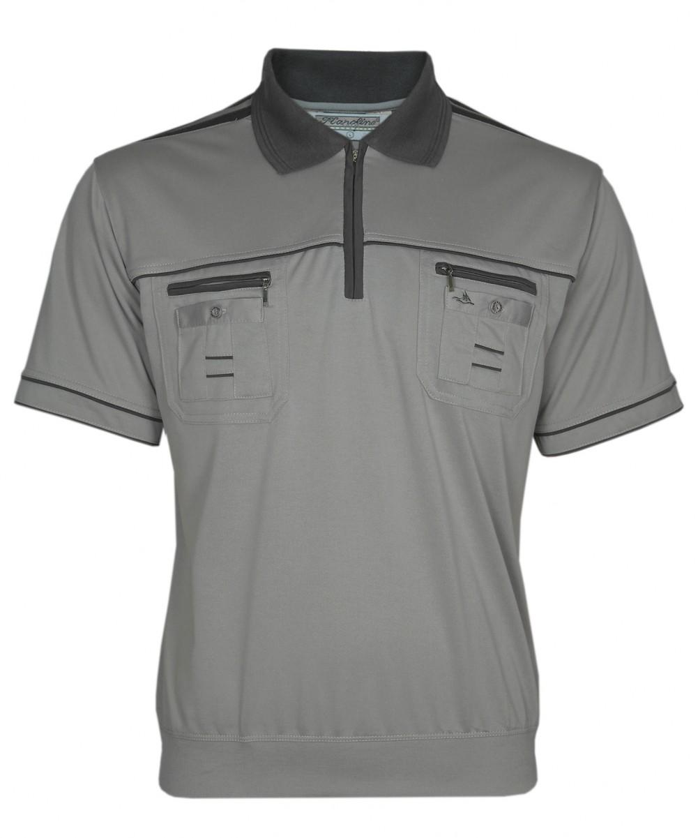 Blousonshirts Poloshirts mit kurzen Ärmeln - Dunkelbeige