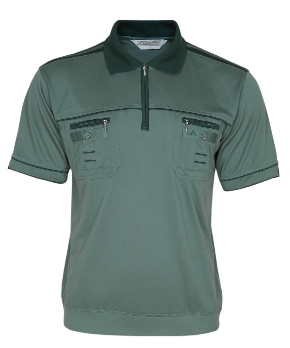 Blousonshirts Poloshirts mit kurzen Ärmeln - Grün