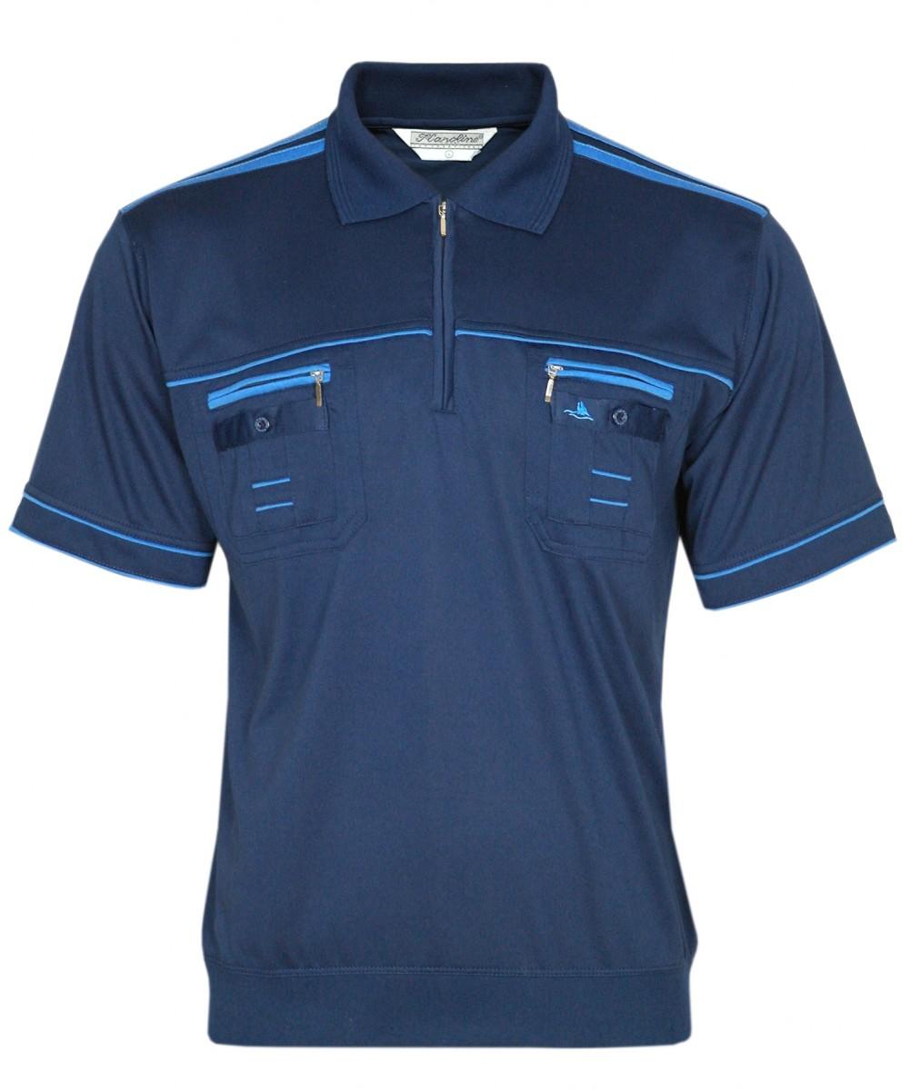 Blousonshirts Poloshirts mit kurzen Ärmeln - Dunkelblau