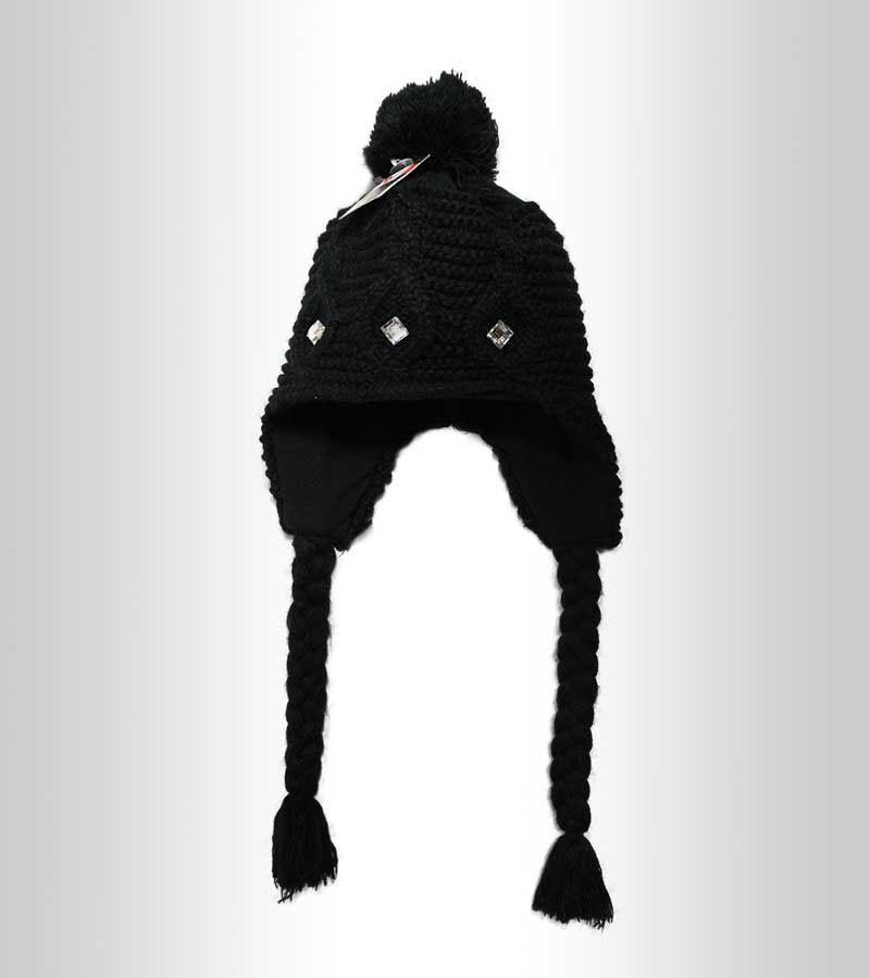 Thermo Mütze mit Ohrenklappen - schwarz