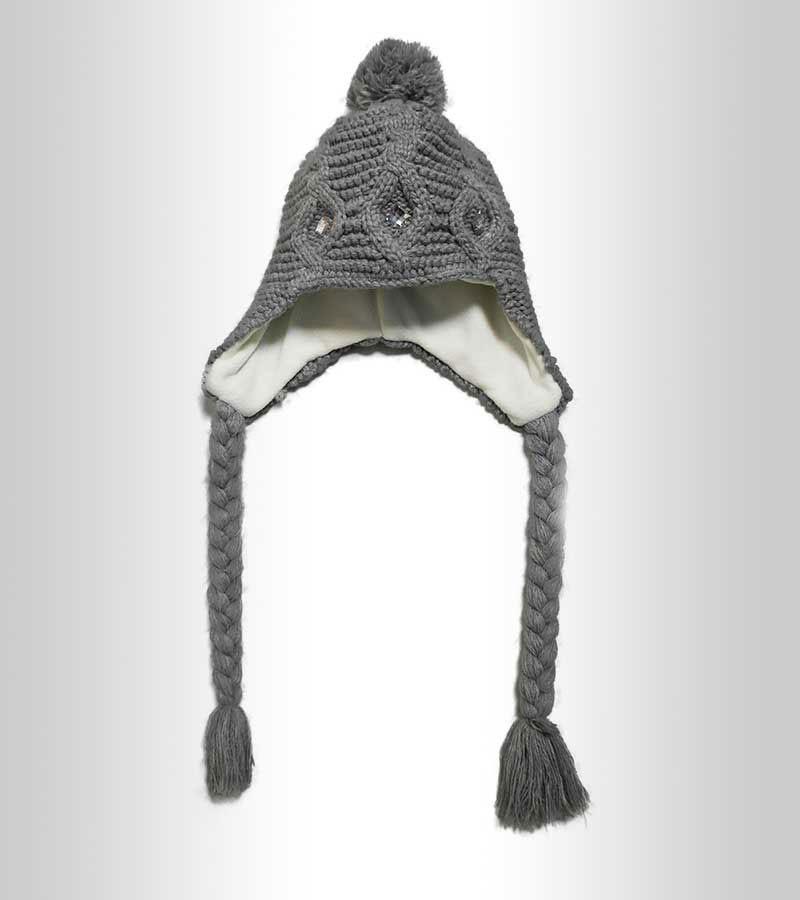 Thermo Mütze mit Ohrenklappen - grau
