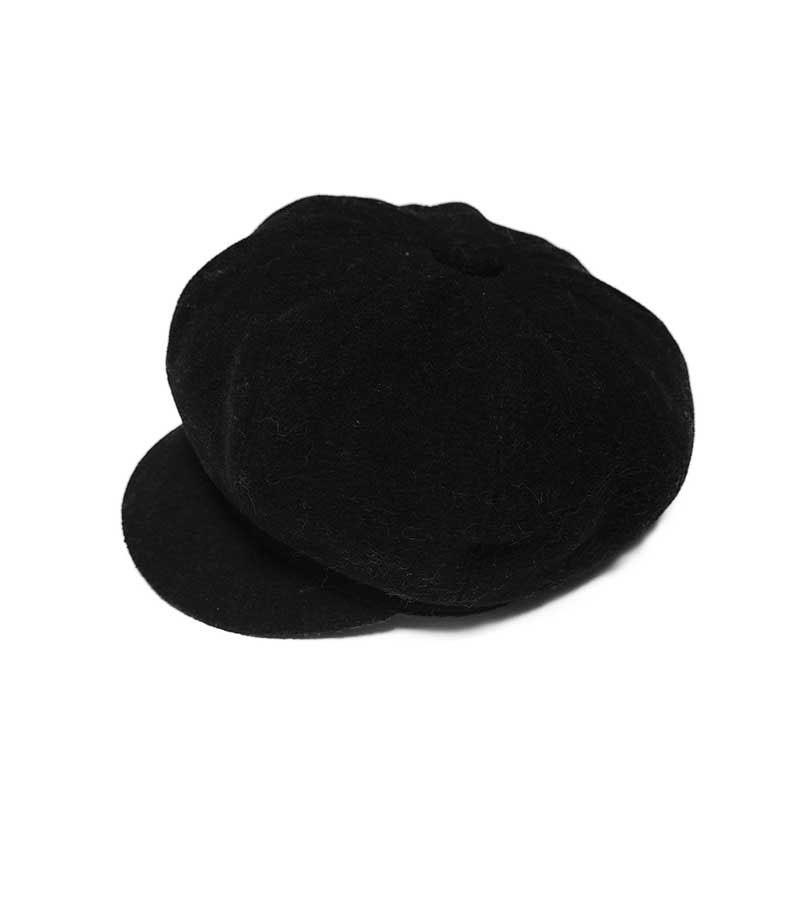 Ballonmütze Damen - schwarz