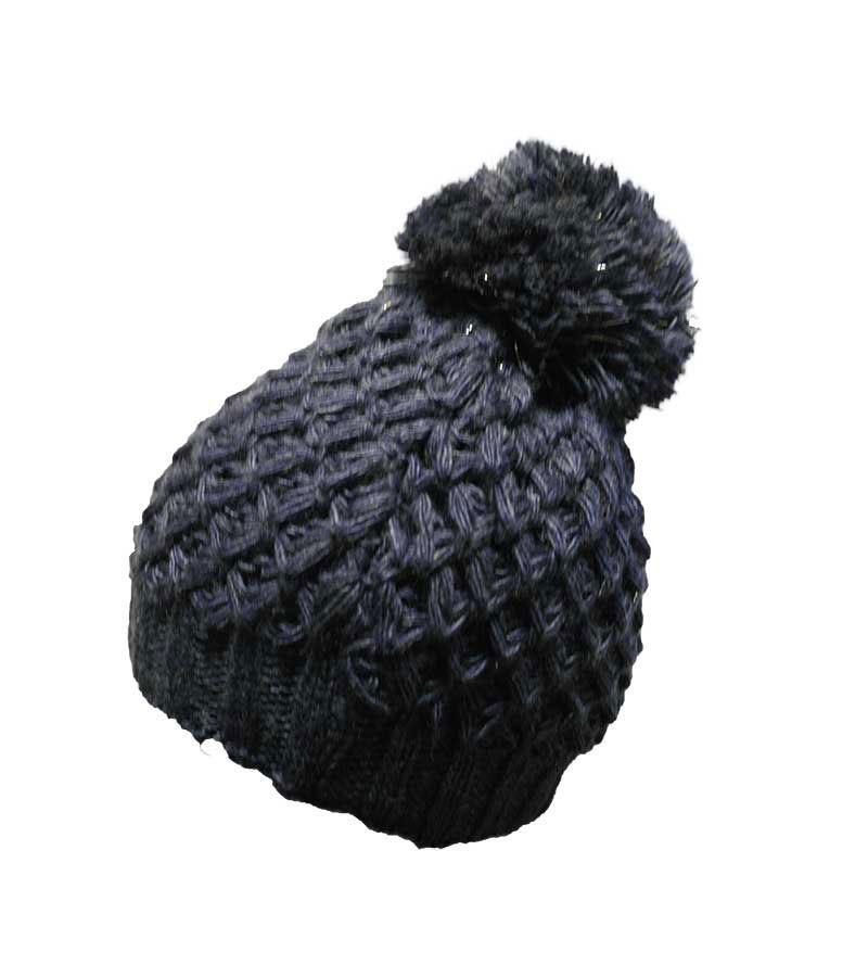 Mütze mit silber-Effekt - dunkelblau