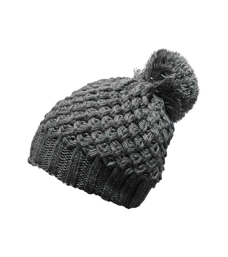 Mütze mit silber-Effekt - grau