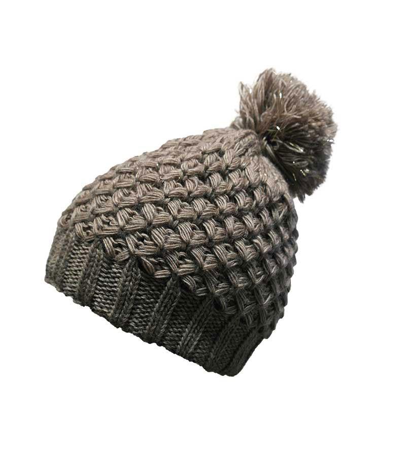 Mütze mit silber-Effekt - braun