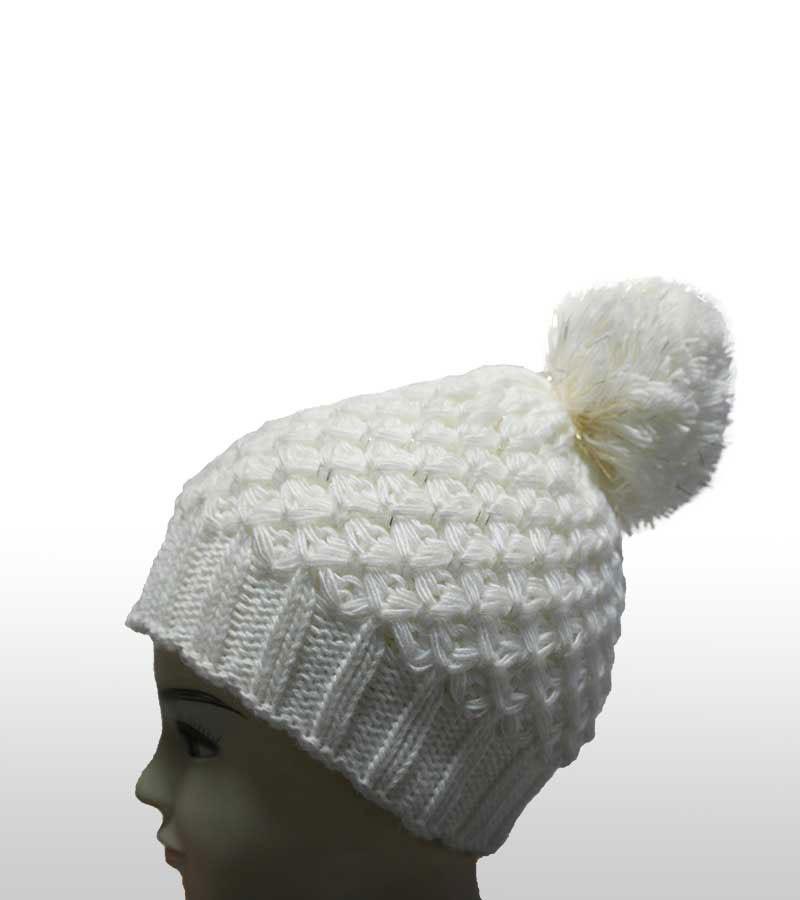 Mütze mit silber-Effekt - weiss