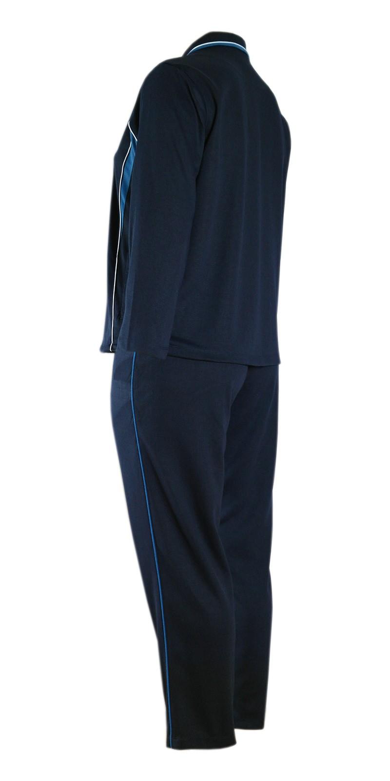 Damen Baumwoll Freizeit- Sportanzug Jogginganzug in fünf schönen Farbtönen - Dunkelblau