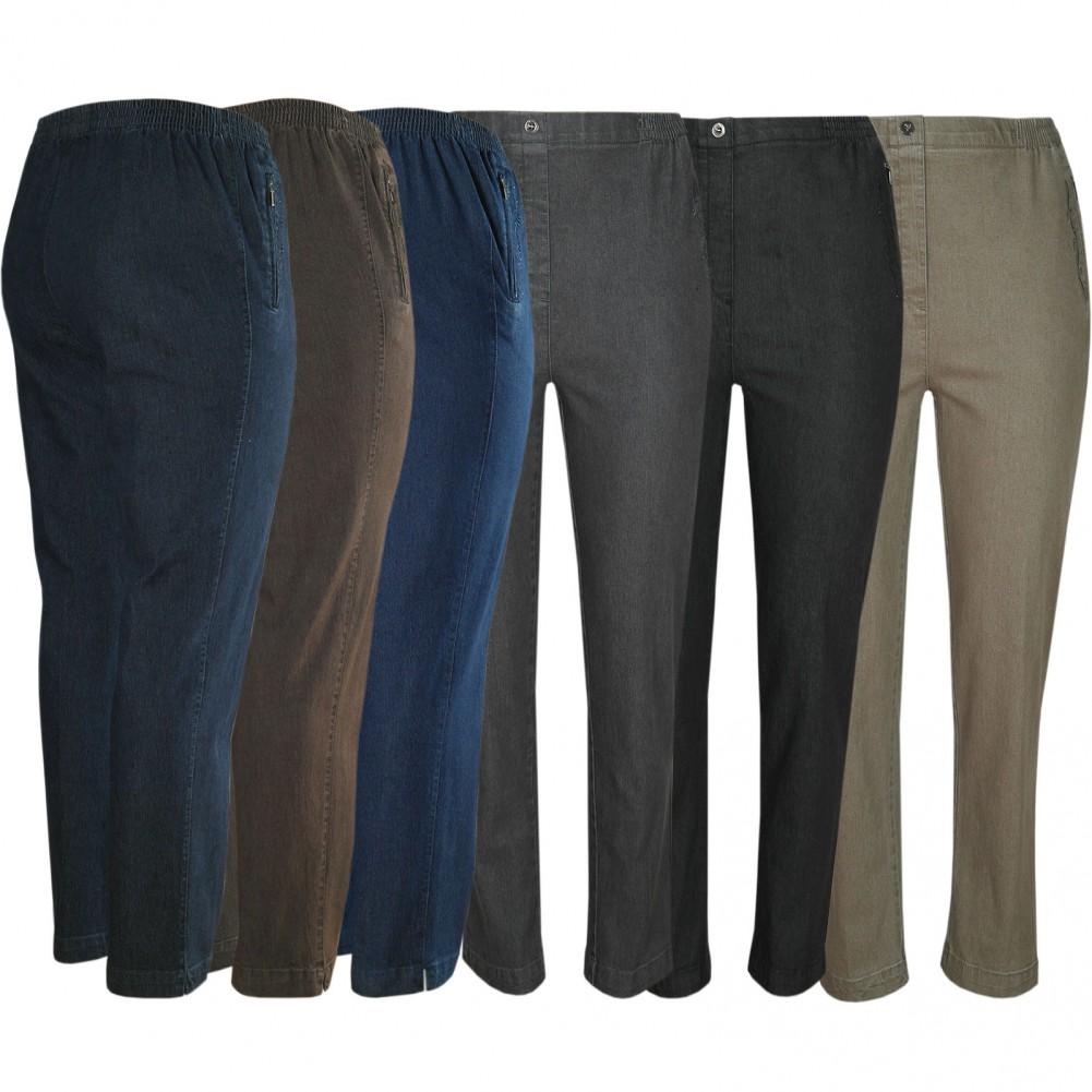 Damen Stretch Jeans Schlupfhose Schlupfjeans K-Größen - Herbst-Winter-Kollektion