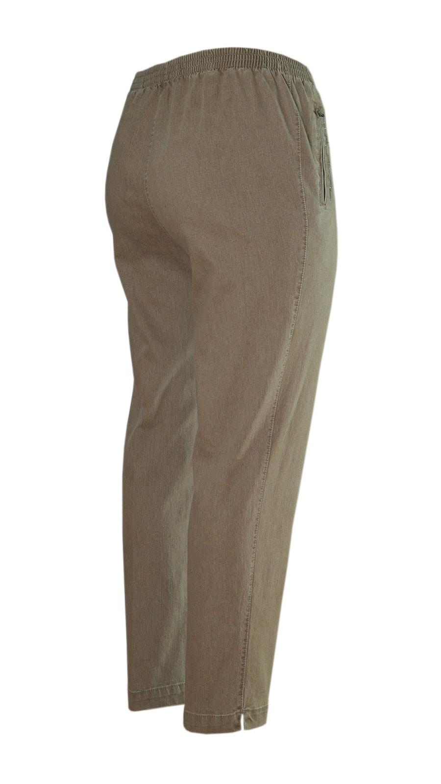 Damen Stretch Jeans Schlupfhose Schlupfjeans K-Größen - Herbst-Winter-Kollektion - beige