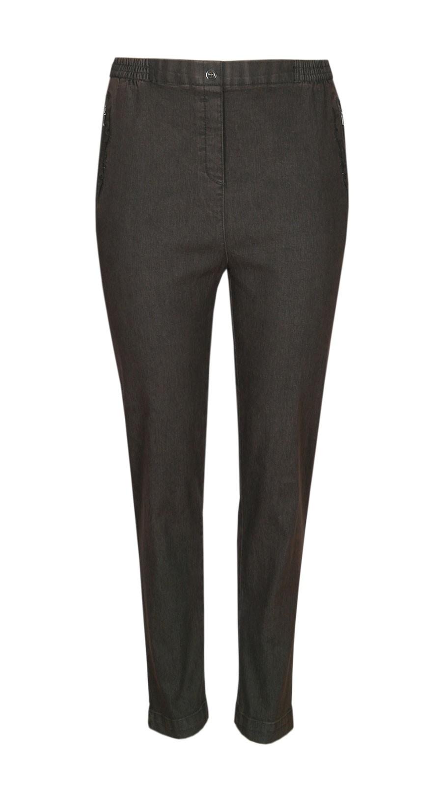 Damen Stretch Jeans Schlupfhose Schlupfjeans K-Größen - Herbst-Winter-Kollektion - braun