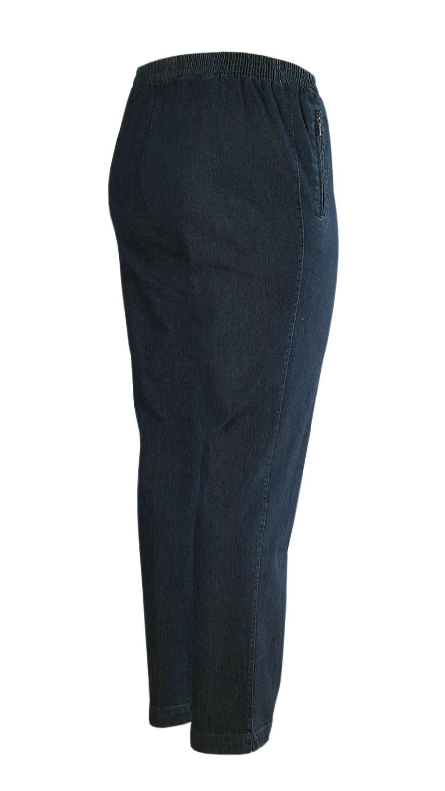 Damen Stretch Jeans Schlupfhose Schlupfjeans K-Größen - Herbst-Winter-Kollektion - dunkelblau