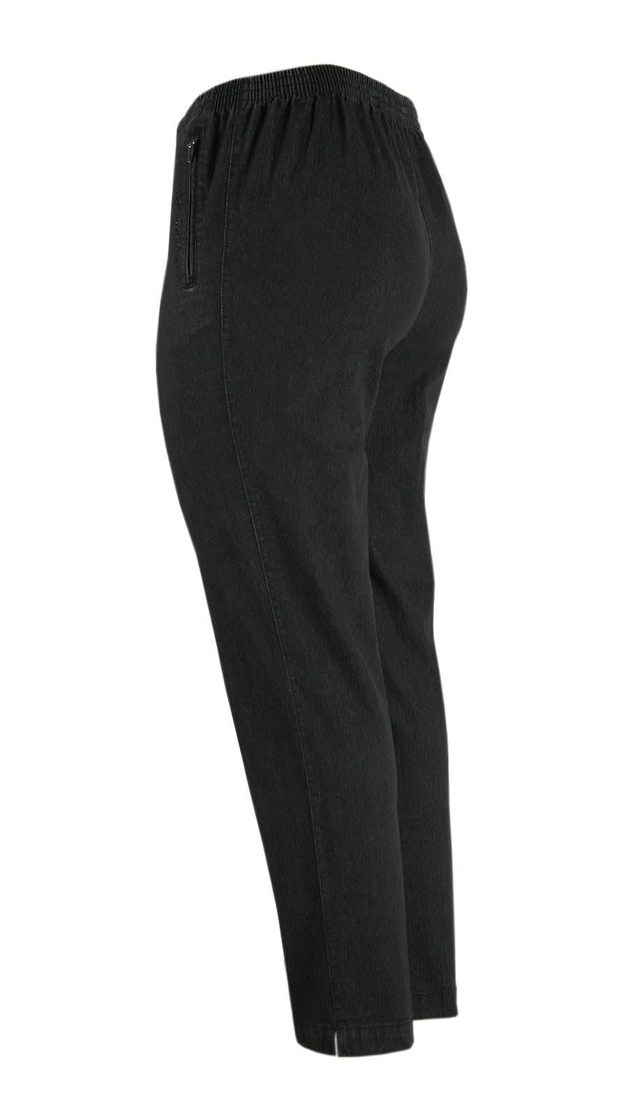 Damen Stretch Jeans Schlupfhose Schlupfjeans K-Größen - Herbst-Winter-Kollektion - schwarz