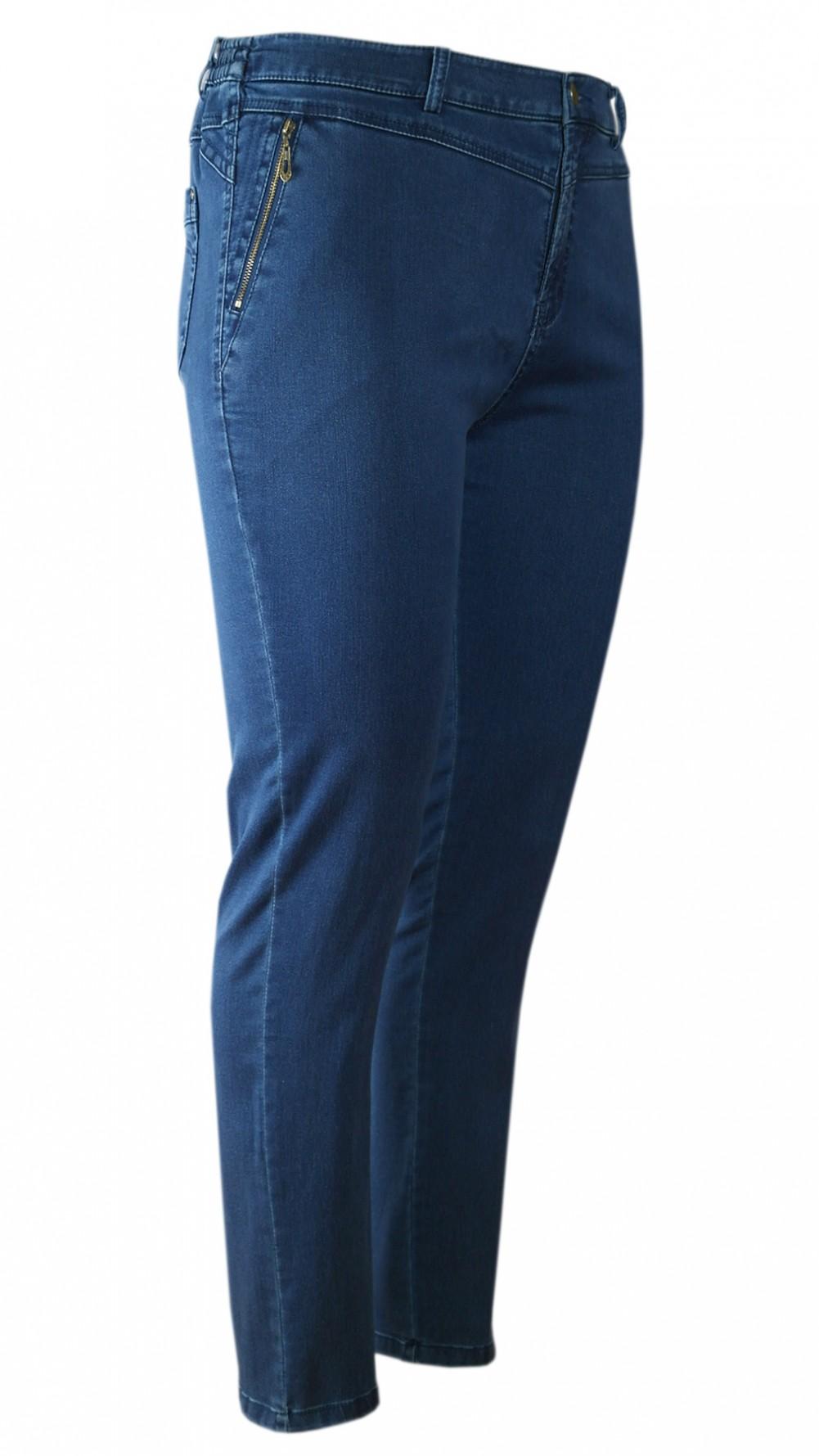 Damen Stretch-Jeans mit seitlichem Dehnbund - Blue/mehr ansicht