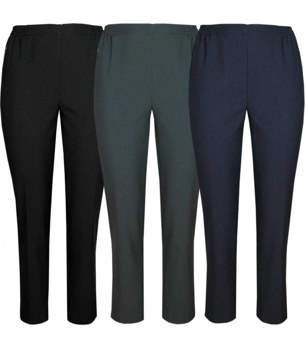 Damen Thermo Schlupfhose, warme Winterhose aus Doppelschicht Stoff, K-Größen