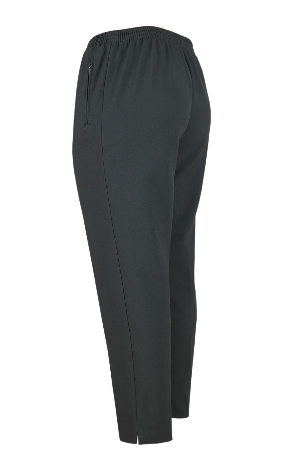 Damen Thermo Schlupfhose, warme Winterhose aus Doppelschicht Stoff, K-Größen anthrazit Hinteransicht
