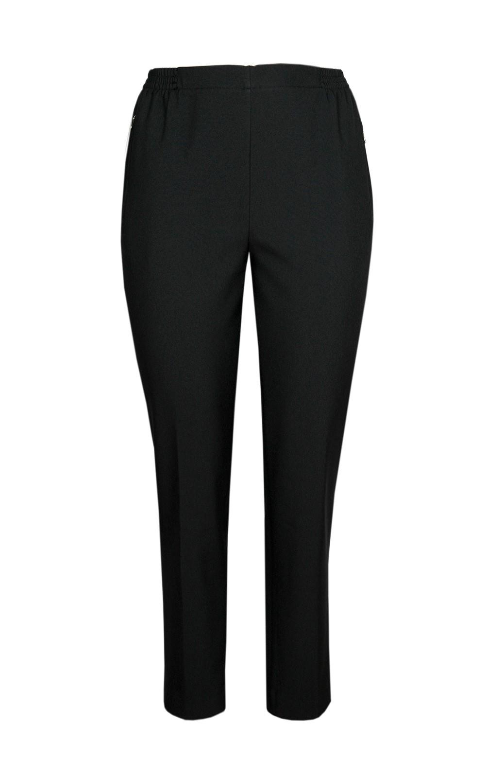 Damen Thermo Schlupfhose, warme Winterhose aus Doppelschicht Stoff, K-Größen Black