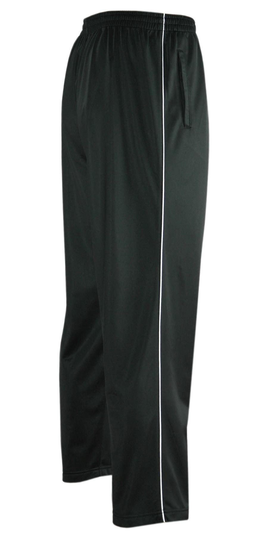 Glänzende Sporthose Herren Freizeit- Jogginghose in Kurzgrößen - schwarz