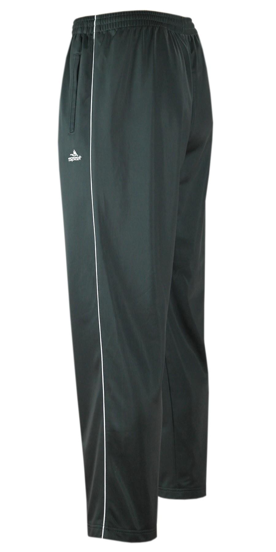Glänzende Sporthose Herren Freizeit- Jogginghose in Kurzgrößen - grau