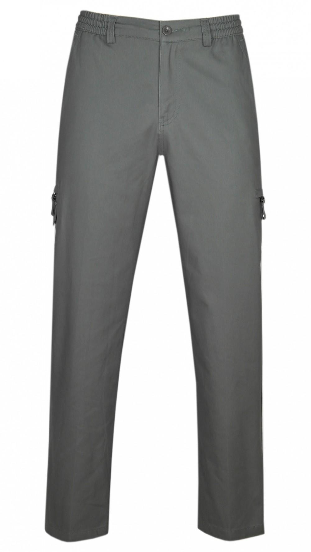 Dehnbund Hose Herren 100% Baumwolle - Dark Khaki