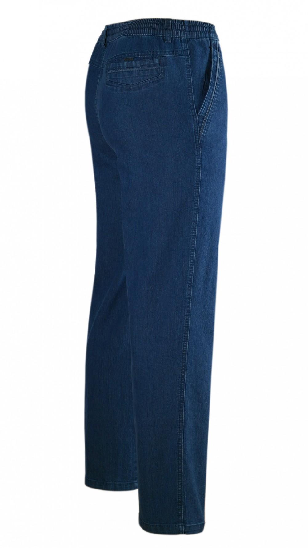 Stretch Jeans Schlupfhose ohne Cargotaschen Herbst-Kollektion - blue/Seitenansicht