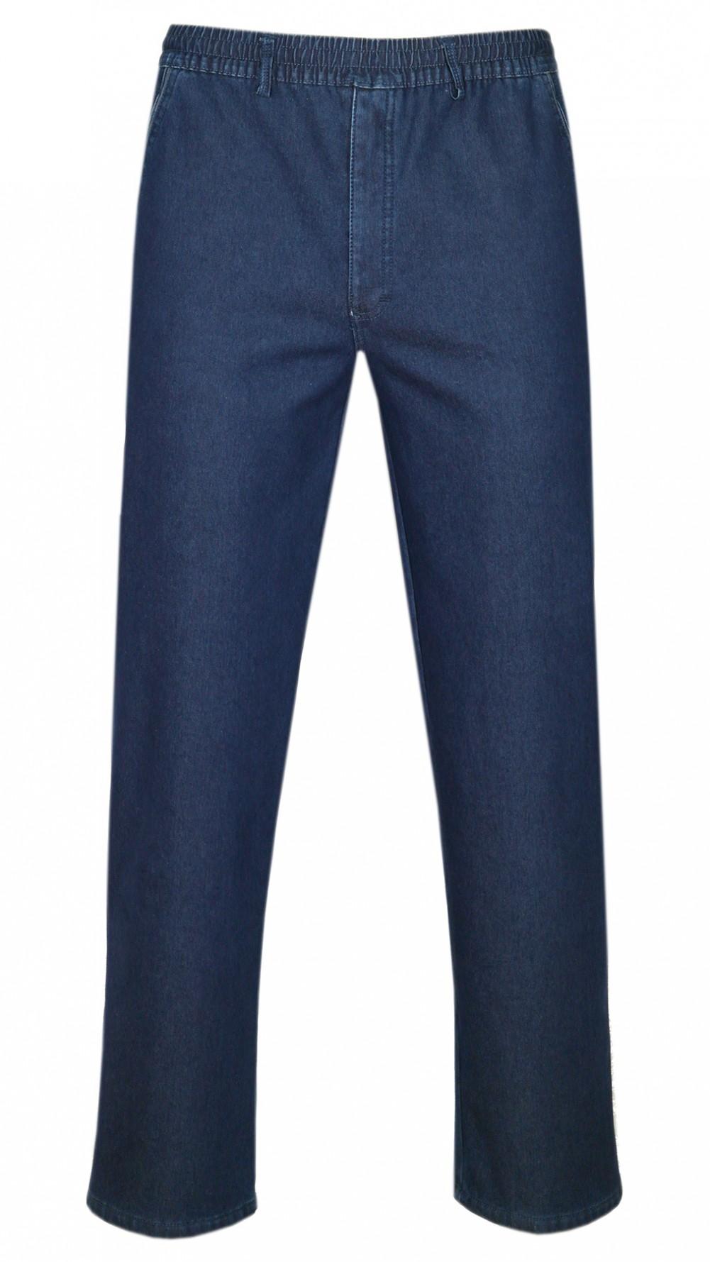 tretch-Thermo-Jeans Schlupfhose ohne Cargo-Taschen - Blau