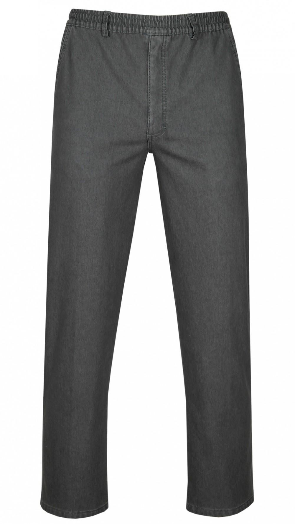 tretch-Thermo-Jeans Schlupfhose ohne Cargo-Taschen - Grau