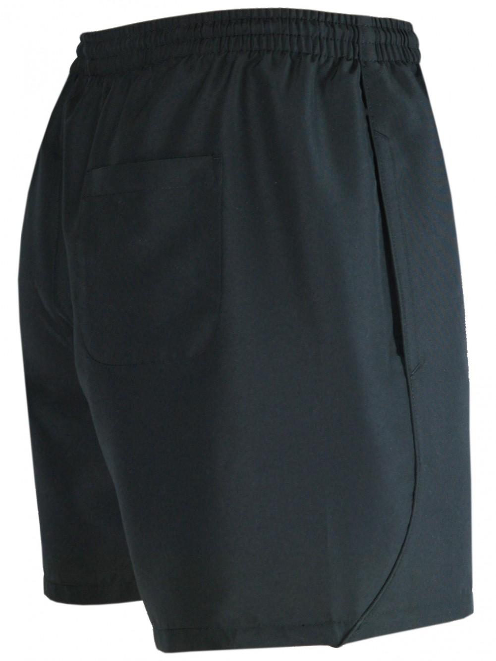Herren Shorts kurze Hose aus ultra-leichter Mikrofaser - Schwarz/Seitenansicht