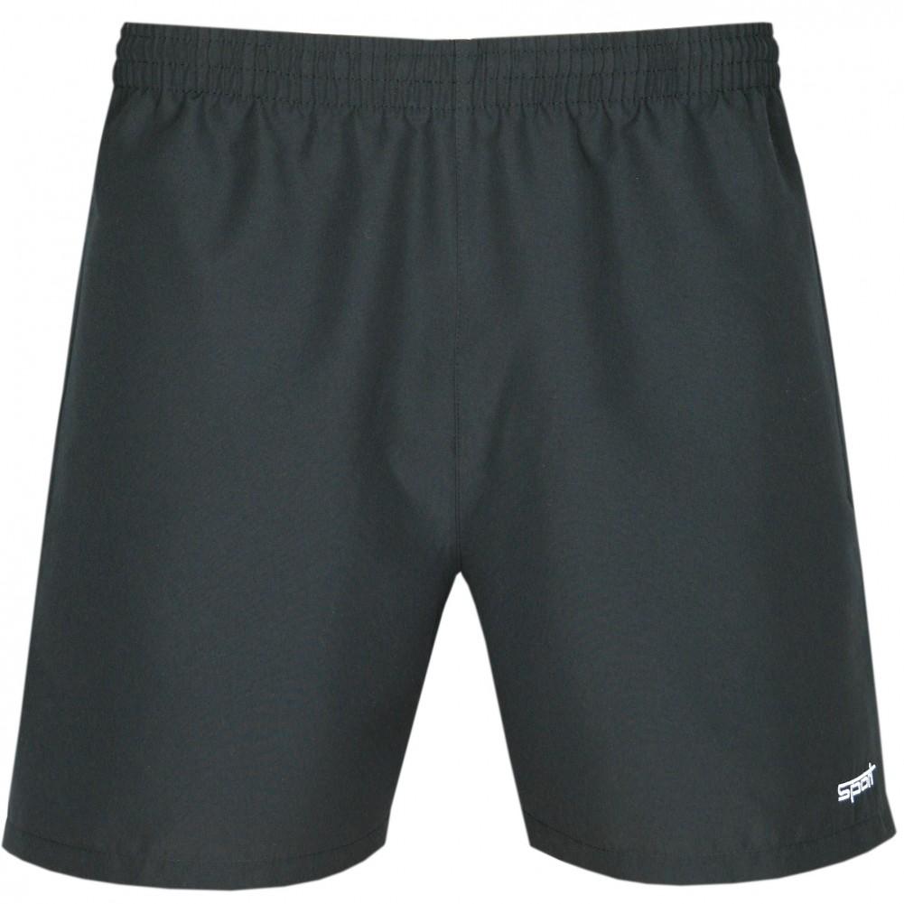 Herren Shorts kurze Hose aus ultra-leichter Mikrofaser - Schwarz