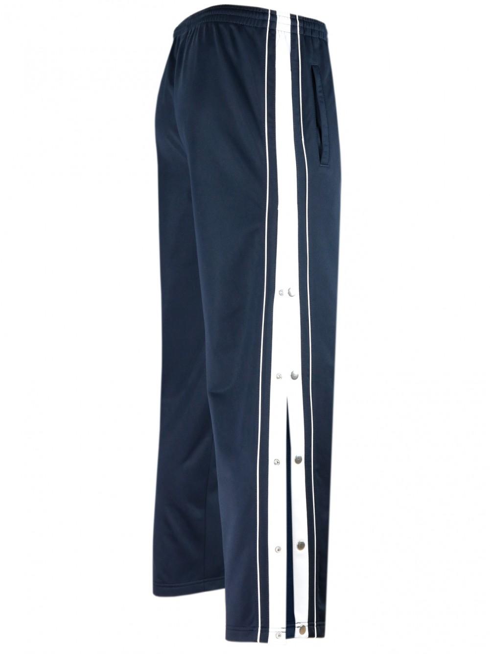 Herren Sporthose mit Seitenknopfleiste - Navy/Seitenansicht