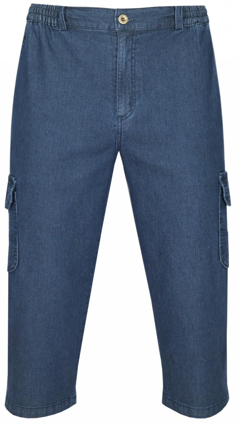 Herren Stretch Jeans Bermudas mit Dehnbund - Dark Blue