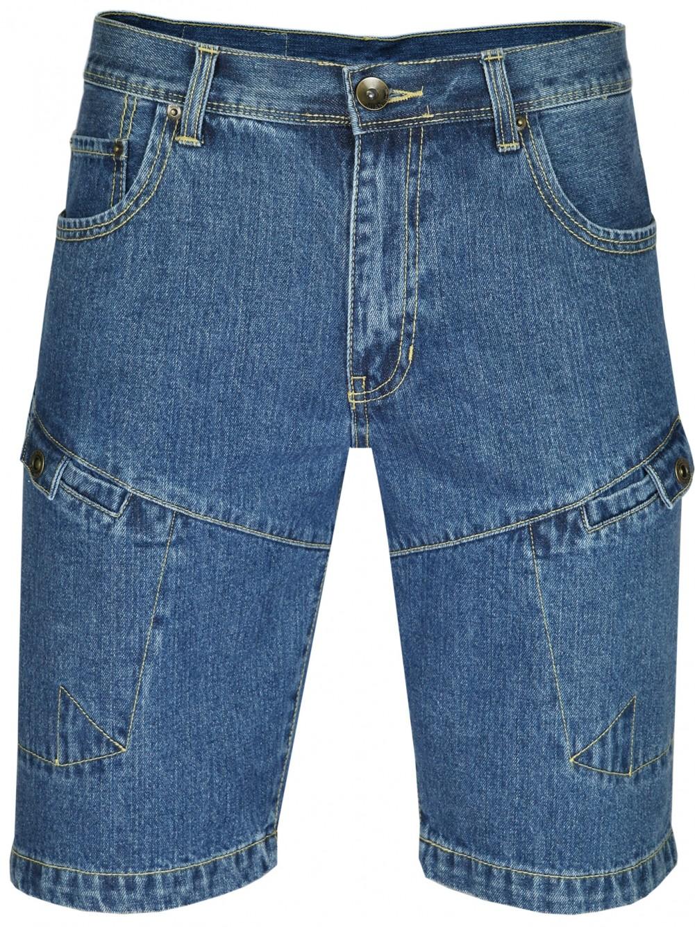 MIAN Denim Herren Shorts Jeans-Shorts 100% Baumwolle Blue
