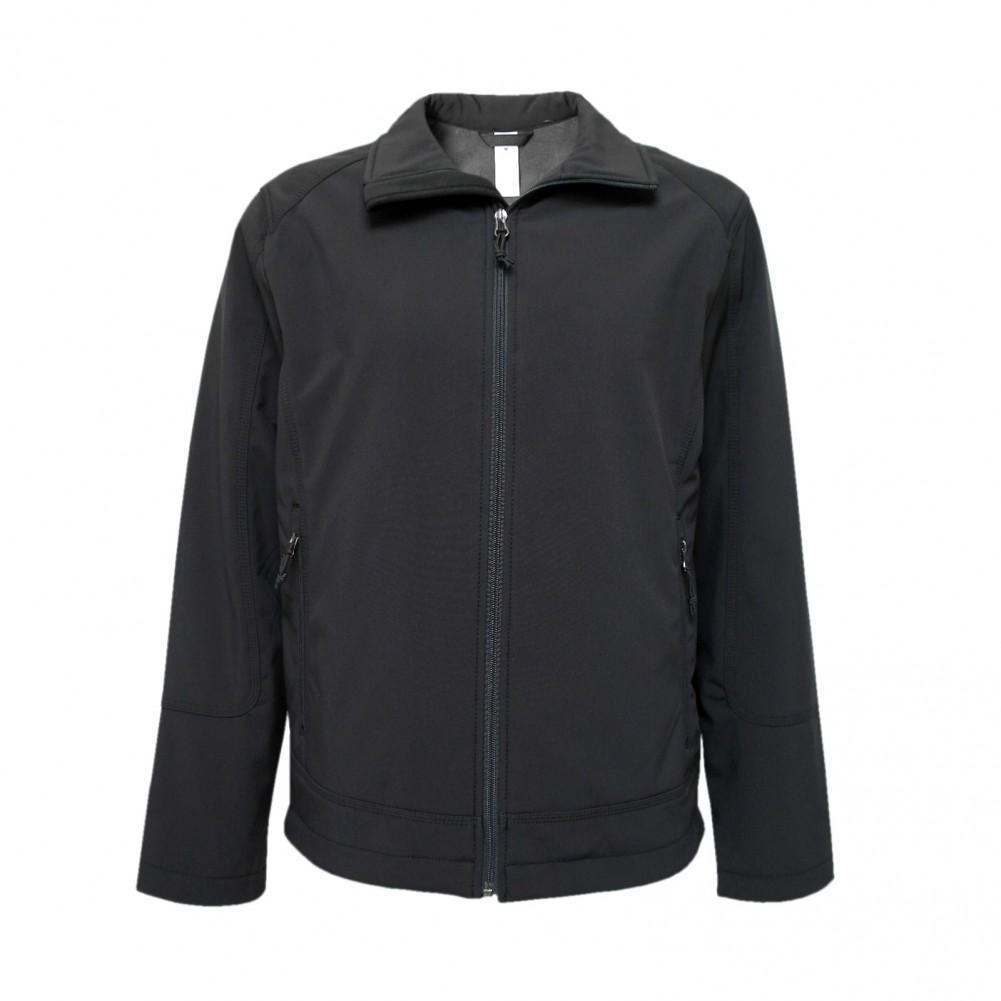 MIAN Softshell- Outdoor Jacke, Übergangsjacke, Sommerjacke Taillenlang Schwarz