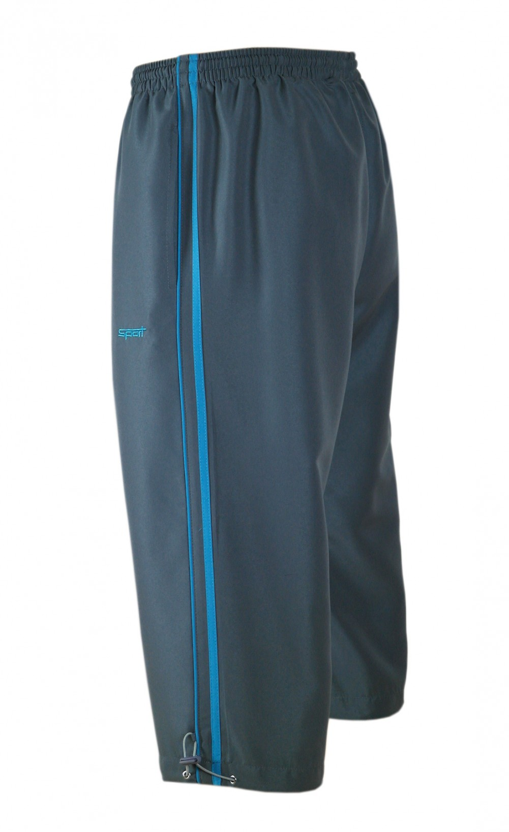 Microfaser 3/4 Hose - Bermudas Shorts Herren - Grau