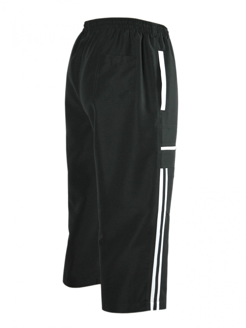 Bermuda Microfaser Shorts Dreiviertelhose Herren - Black/Seitenansicht