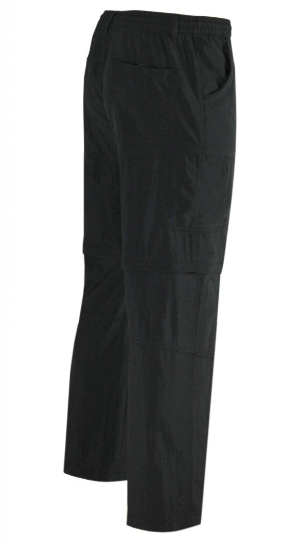 Wanderhose mit Knitter-Effekt - Schwarz