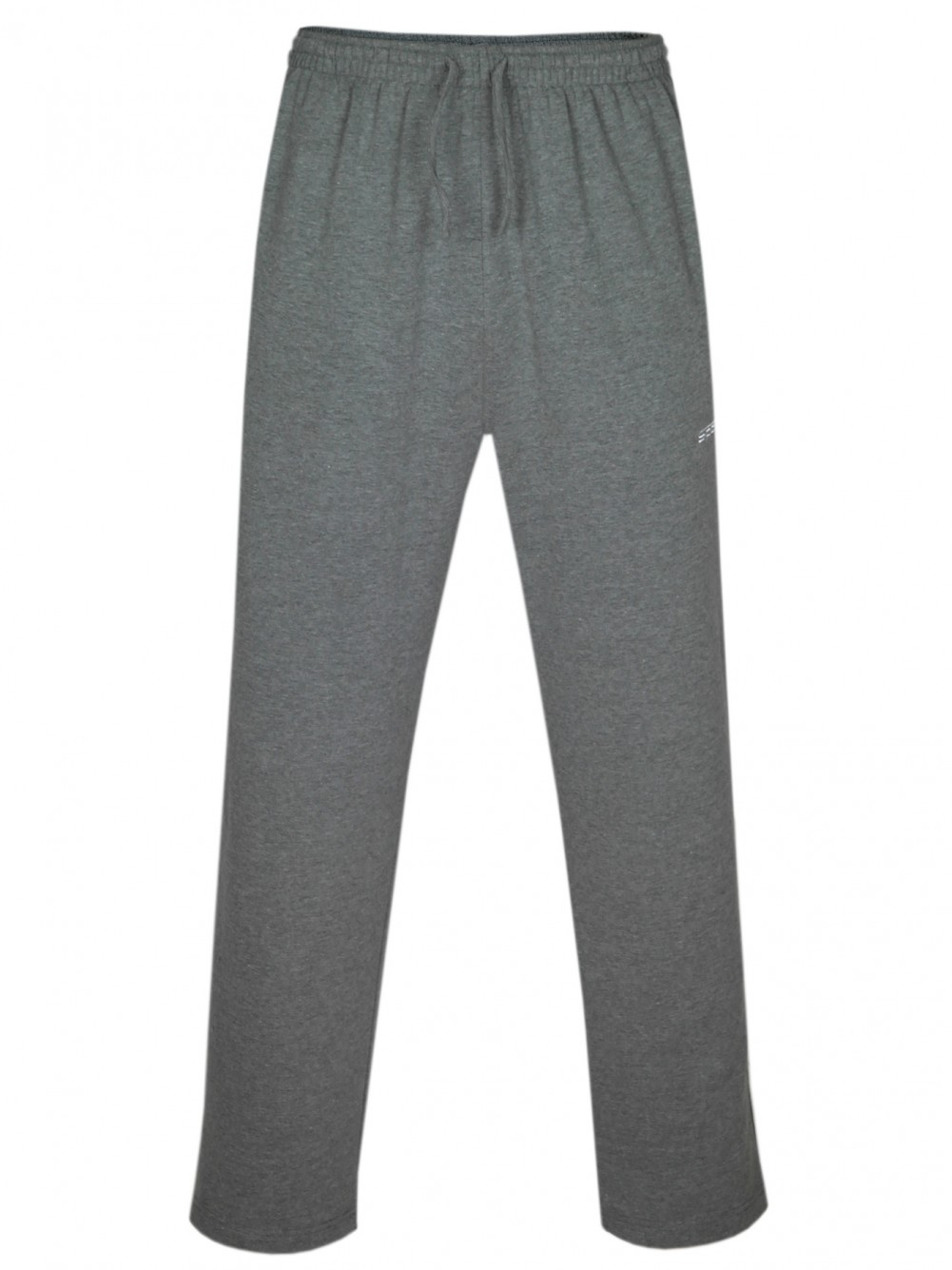 Baumwoll Herren Jogginghose offener Beinabschluss - Grau