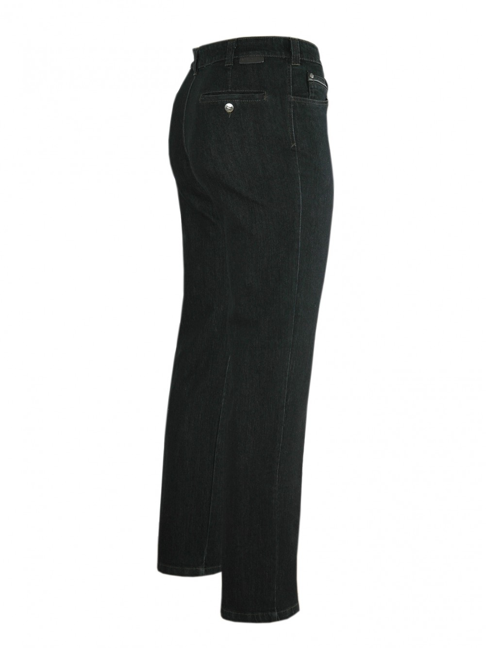 Stretch-Jeans, modische Stretchhosen für Herren - Black/Sietenansicht