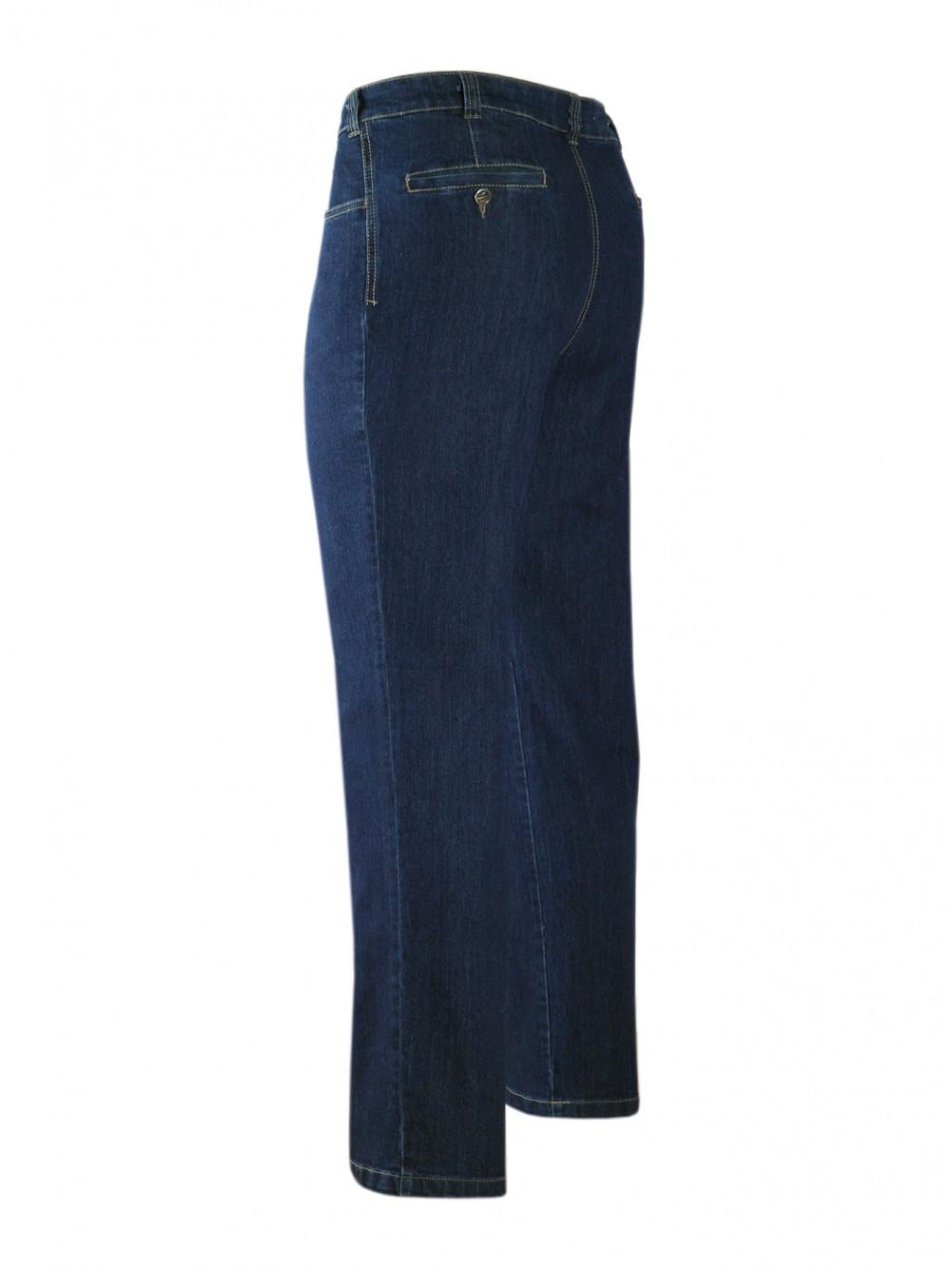 Stretch-Jeans, modische Stretchhosen für Herren - Blue/Seitenansicht