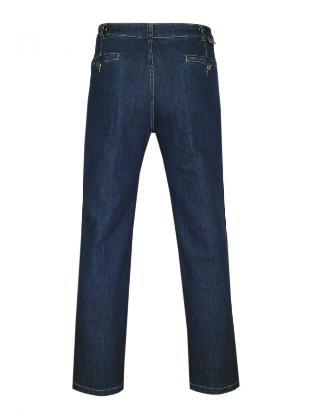 Stretch-Jeans, modische Stretchhosen für Herren - Blue/Hinteransicht
