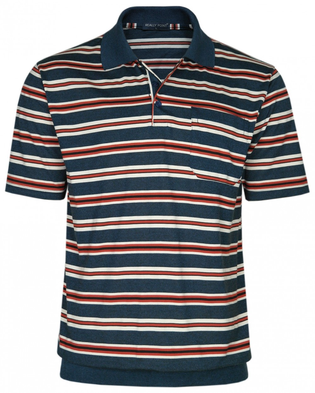 Jersey Blousonshirts im Ringeln-Look - Navy