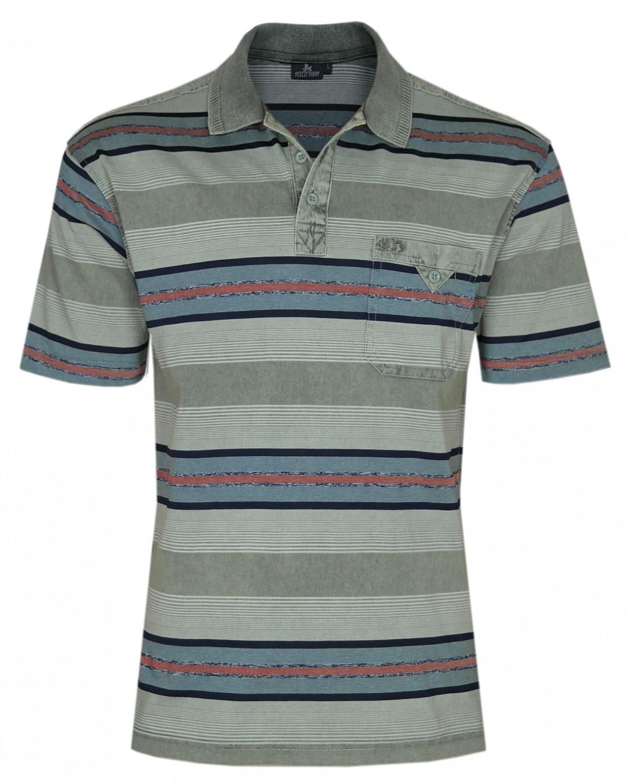 Herren Premium Poloshirts mit kurzer Knopfleiste - Oliv
